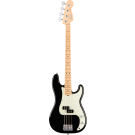Fender American Pro Precision Bass with Maple Fingerboard in Black and Elite Moulded Case