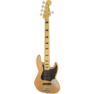 Squier Vintage Modified Jazz Bass V with Maple Fingerboard in Natural