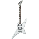 Jackson - X Series Signature Gus G. Star Electric Guitar in Satin White with Black Pinstripes RW