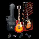 SX Les Paul Style Left Handed Electric Guitar Kit in Cherry Sunburst