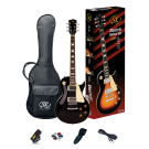 SX Les Paul Style Electric Guitar Kit in Black
