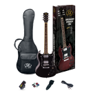 SX SG Style Electric Guitar Kit in Black