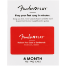 Fender Play Prepaid Subscription Card - 6 Months