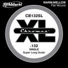 D'Addario CB132SL Chromes Bass Guitar Single String Super Long Scale .132