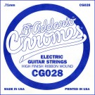 D'Addario CG028 Flat Wound Electric Guitar Single String .028