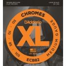D'Addario ECB82 Chromes Bass Guitar Strings Medium 50-105 Long Scale