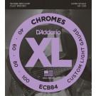 D'Addario ECB84 Chromes Bass Guitar Strings Custom Light 40-100 Long Scale