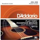 D'Addario EFT13 Flat Tops Phosphor Bronze Acoustic Guitar Strings Resophonic Guitar 16-56