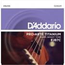 D'Addario EJ87C Titanium Ukulele Strings Concert