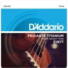 D'Addario EJ87T Titanium Ukulele Strings Tenor