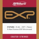 D'Addario EXP4404 Coated Classical  Guitar Single String Extra-Hard Tension Fourth String