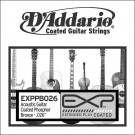 D'Addario EXPPB026 EXP Coated Phosphor Bronze Single String.026