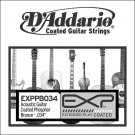 D'Addario EXPPB034 EXP Coated Phosphor Bronze Single String.034