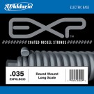 D'Addario EXPXLB035 EXP Coated Nickel Round Wound Bass Guitar Single String .035
