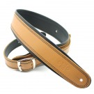 "DSL Straps - GEB25-18-1 2.5"" Rolled Edge Buckle Tan/Black Guitar Strap"