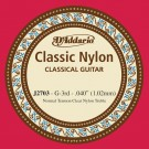 D'Addario J2703  Student Nylon Classical Guitar Single String Normal Tension Third String