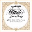 D'Addario J2906 Classics Rectified Classical Guitar Single String Moderate Tension Sixth String