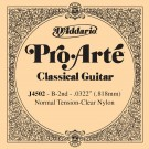 D'Addario J4502 Pro-Arte Nylon Classical Guitar Single String Normal Tension Second String