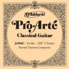 D'Addario J4504C Pro-Arte Composite Classical Guitar Single String Normal Tension Fourth String