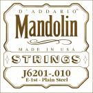 D'Addario J6201 Plain Steel Mandolin Single String .010