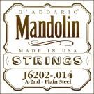 D'Addario J6202 Plain Steel Mandolin Single String .011