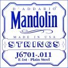 D'Addario J6701 Nickel Mandolin Single String .011