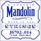 D'Addario J6702 Nickel Mandolin Single String .014