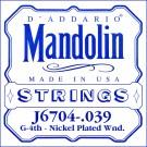 D'Addario J6704 Nickel Mandolin Single String .039