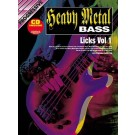 Progressive Heavy Metal Bass Licks Volume 1 Book/CD