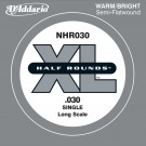 D'Addario NHR030 Half Round Bass Guitar Single String Long Scale .030