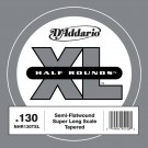 D'Addario NHR130T Half Round Bass Guitar Single String Long Scale .130 Tapered