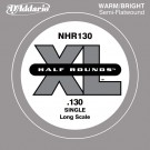 D'Addario NHR130 Half Round Bass Guitar Single String Long Scale .130