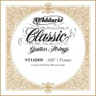 D'Addario NYL020W Silver-plated Copper Classical Single String .020