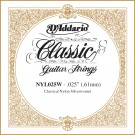 D'Addario NYL025W Silver-plated Copper Classical Single String .025