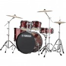 Yamaha Rydeen 5pc Euro Drum Kit - Burgundy Glitter + FREE Stool