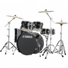 Yamaha Rydeen 5pc Euro Drum Kit - Black Glitter + FREE Stool
