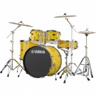Yamaha Rydeen 5pc Euro Drum Kit - Mellow Yellow + FREE Stool