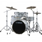 Yamaha Stage Custom Birch Euro Drum Kit + Hardware + PST5 Cymbal Pack - Pure White