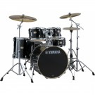 Yamaha Stage Custom Birch Euro Drum Kit + Hardware + PST5 Cymbal Pack - Raven Black