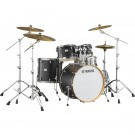 Yamaha Tour Custom Fusion Drum Kit + Hardware - Licorice Satin