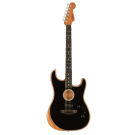 Fender American Acoustasonic Stratocaster Acoustic Electric Guitar in Black