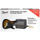 Squier Stratocaster HSS Pack with FM15G Amp in Sunburst