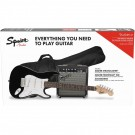 Fender Squier Stratocaster Electric Guitar Pack w/ Frontman 10G Amp - Black Strat Pack