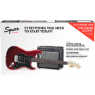Squier Stratocaster HSS Pack with FM15G Amp in Candy Apple Red