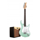 Cort G110 Electric Guitar Pack with CM15R Amp - Carribean Green + Free Lead and Picks!