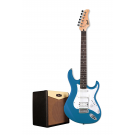 Cort G110 Electric Guitar Pack with CM15R Amp - Lake Placid Blue + Free Lead and Picks!