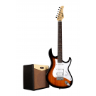 Cort G110 Electric Guitar Pack with CM15R Amp - Sunburst + Free Lead and Picks!