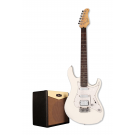 Cort G110 Electric Guitar Pack with CM15R Amp - Vintage White + Free Lead and Picks!