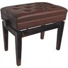AMS Piano Stool Height Adjustable Walnut w/Storage
