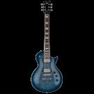 ESP LTD EC-256 Flame Top Electric Guitar - Cobalt Blue